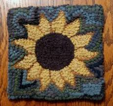 sheep in sunflowers by woodcrest rug designs hooked rugs