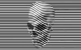 Optical Illusion Wallpapers Abstract Black And White Skulls Creative Optical Illusion
