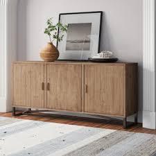 buffet sideboard cabinet storage kitchen hallway table industrial rustic rishaan solid wood sideboard