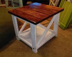 Rustic Coffee Tables And End Tables Rustic End Table Etsy