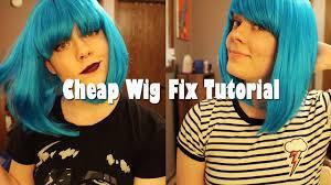 wigs at spirit halloween store cheap wig fix tutorial youtube