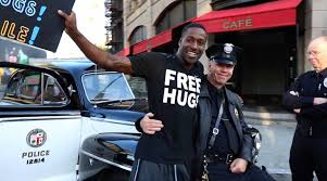 here u0027s a 10 minute video of people hugging dallas police officers