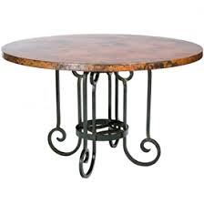 Wrought Iron Dining Tables  Unique Handcrafted Styles - 60 inch round wrought iron outdoor dining tables