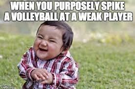 Volleyball Meme - evil toddler meme imgflip