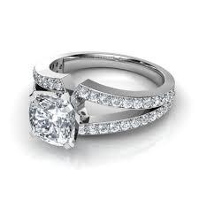 cushion cut diamond engagement rings cushion cut engagement rings with side diamonds