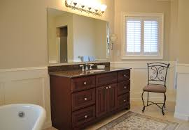bathroom beige wall and white wainscoting bathroom for fancy