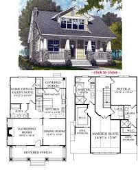 floor plans for cottages and bungalows bungalow house plans plan craftsman floor one story simple small