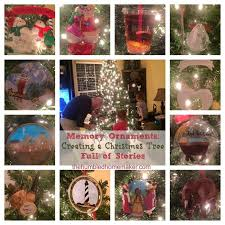 memory ornaments creating a christmas tree full of stories