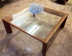Wood Glass Coffee Table Square Wood And Glass Coffee Table Foter