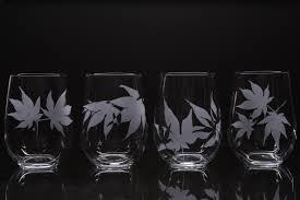 cool glassware japanese maple wine glasses sweet u0026 cool design