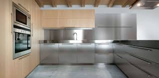 Metal Cabinets Kitchen Seamless Stainless Steel Kitchen Backsplashes For Your Home