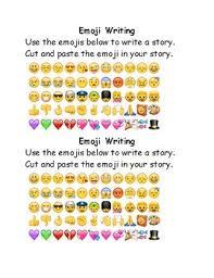 to emoji fun worksheets writing activity u0026 desk plates