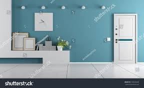 home entrance decor blue home entrance armored door shelf stock illustration 728436490