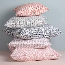 Space Cushion Definition Block Printed Leaf Cushion Block Prints Cushion Filling And