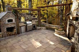 oven decor outdoor fireplace and pizza oven corner kitchen base