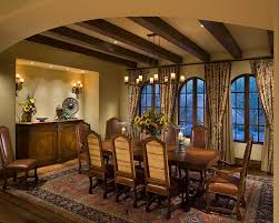 Tuscan Dining Room Ideas by Tuscan Dining Room Dining Room Mediterranean With Beige Curtains