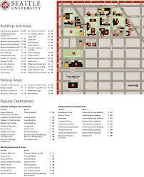 Washington State University Campus Map by Seattle University Mutantmush