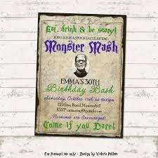 valerie pullam designs monster mash bash party invitation