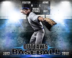 sports poster photo template for baseball impact baseball