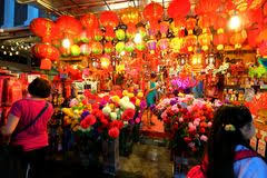 Lunar New Year Decoration Singapore by Singapore Chinatown With Chinese New Year Decoration Stock Image