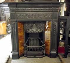 large cast iron fireplace artistic color decor unique at large