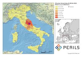 Italy Earthquake Map Perils Discloses Final Loss Estimate For The October 2016