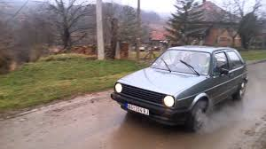 volkswagen golf 1986 vw golf 1 6 d burnout start youtube