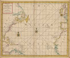 Africa And Europe Map 1728 chart of the great western ocean hjbmaps com u2013 hjbmaps com