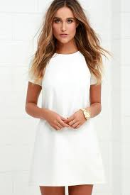 white dresses chic ivory dress shift dress sleeve dress 48 00