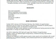 Legal Secretary Resume Luxury Ideas Secretary Resume 9 Professional Legal Secretary