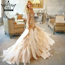 gold wedding dresses compare prices on ostrich feather wedding dress online shopping