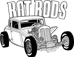 coloring page of a rat ratrods2 gif