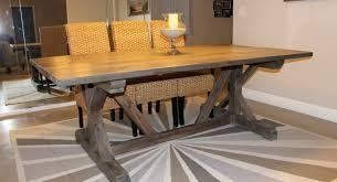 Dining Room Trestle Table Table Build Dining Room Table Wonderful Trestle Table Plans How