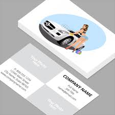 Car Name Card Design Cleaning Services Business Cards Standard Horizontal