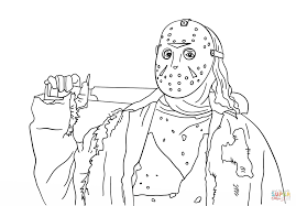 friday the 13th jason coloring page free printable coloring pages