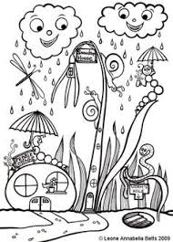 toadstool house colouring mushrooms toadstools