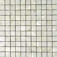 Shell Tiles For Kitchen Backsplash  Square Mother Of Pearl Tile - Square tile backsplash
