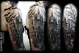 18 haunted graveyard tattoos