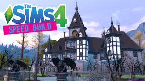 Gothic Victorian House The Sims 4 Speed Build Carlisle Manor Gothic Victorian No Cc