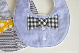 Challenge Tie Day 10 Crafting Challenge Bow Tie Baby Bib Stitchin Aweigh