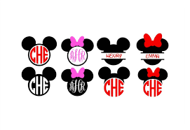 minnie mouse monogram mickey mouse monogram minnie svg