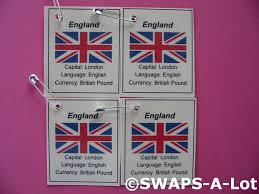 Girlguiding Flags Mini England Flag Capital Thinking Day Swaps Kit For Kids