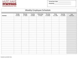 weekly employee schedule form restaurant management tools