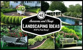 Backyard Desert Landscaping Ideas Backyard Cheap Landscaping Ideas Impressive On Simple Garden Ideas