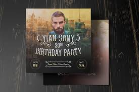 hipster small birthday party flyer flyer templates creative market