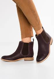 womens boots zalando clarks may pearl nala ankle boots burgundy zalando co uk