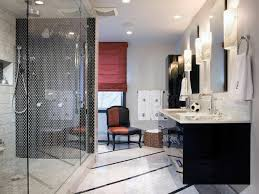 White Bathroom Decorating Ideas Black And White Bathroom Decor Beside Glass Window Above Vanity