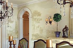 Large Wall Mural Stencils Elegant Mural In Dining Room Ideas By - Dining room mural
