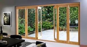 Folding Exterior Door Impressive External Glass Wall Image Ideas Backyard And Dining