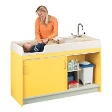 Changing Table With Sink Tot Mate Infant Changing Table W Sink Right 8540a